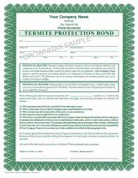 Download Termite Treatment Warranty Form Gif