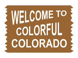 Welcome To Colorful Colorado Sign Vinyl Decal Sticker Mile High Campers