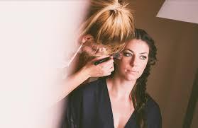 bridal makeup session