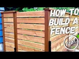 How To Build A Fence Diy Privacy Fence Youtube