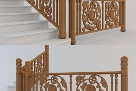 3d Model Stair Fence Free Download 3dzip Org 3d Model Free Download