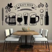 Craft Beer Vinyl Wall Decal Decor Kitchern Glass Alcohol Drinking Pub Wall Stickers For Man Cave Dining Room Decoration Stickers On Your Wall Stickers To Decorate Walls From Joystickers 10 85 Dhgate Com