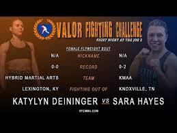 VFC 55 Katylyn Deininger vs Sara Hayes - YouTube