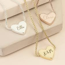 personalised box chain and heart