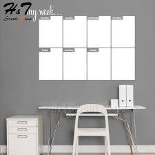 Ht Sweet Home Week Calendar Plan Chalkboard Blackboard Vinyl Wall Decal Sticker Office Home