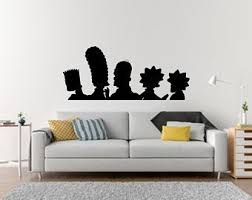 Simpsons Wall Decal Etsy
