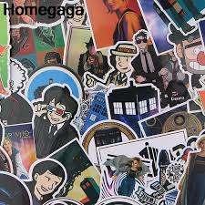 Homegaga 37pcs Strange Doctor Stylish Stickers Pvc Scrapbooking Sticker Album Decal Car Luggage Laptop Phone Stickers Gift D2302 Stickers Aliexpress
