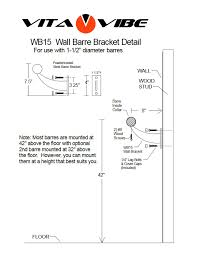 aluminum single bar wall mount