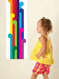 Designer Growth Chart For The Stylish Kids Room Bright Funky Etsy