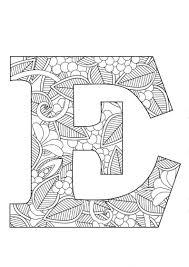Letter E Floral Etsy Brief Letter Sjablonen Kleurplaten