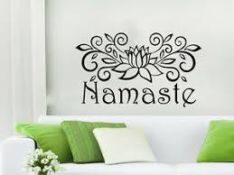 Namaste Wall Decal Vinyl Sticker Pattern Lotus Flower Yoga Mandala Decor Ns664 Ebay