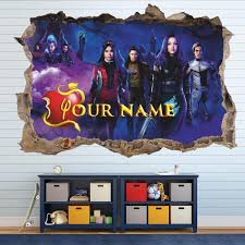 Descendants 3 3d Wall Decal Personalized Wall Sticker Etsy In 2020 3d Wall Decals Personalised Wall Stickers Personalized Wall