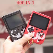 MÁY CHƠI GAME 4 NÚT CẦM TAY SUP MINI GAME BOX 400 IN 1 PLUS
