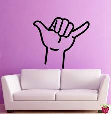 Amazon Com Wall Stickers Vinyl Decal Hang Loose Hand Sign Funny Decor For Living Room Z2002i Home Kitchen
