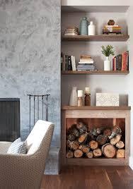 inside firewood storage living