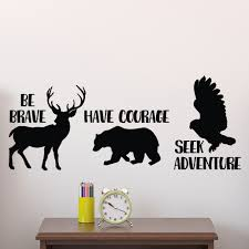 Be Brave Have Courage Seek Adventure Vinyl Wall Decal Explorer