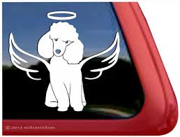 Custom Poodle Angel Dog Decals Stickers Nickerstickers