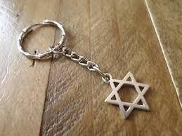 wonderful silver plated jewish star of