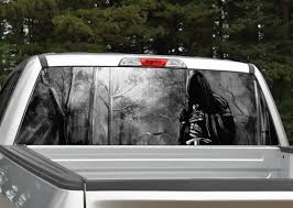 Grim Reaper Forest Black And White Rear Window Graphic Miller Graphics