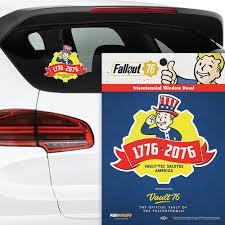 Fallout 76 Tricentennial Logo Window Decal Fanwraps