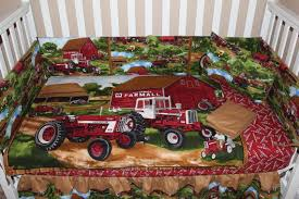 farmall 6 piece crib bedding set crib
