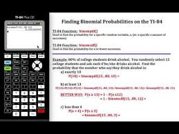 calculating binomial probabilities on