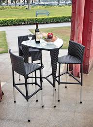black modern 4 pc triangle outdoor bar