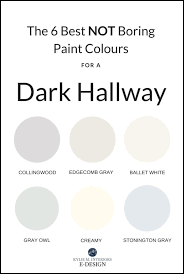 boring paint colours for a dark hallway