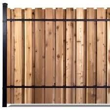 6 Ft X 8 Ft Black Aluminum End Post Fence Panel Kit With 9 Ft Post Wooden Fence Panels Fence Panels Wood Fence Post
