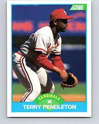 Amazon.com: 1989 Score #137 Terry Pendleton Mint Baseball MLB Cardinals:  Collectibles & Fine Art