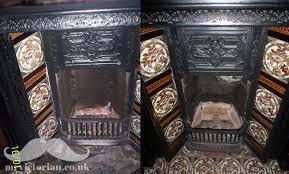 restoring an iron fireplace to strip