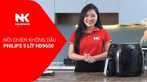 Nồi Chiên Không Dầu Philips 5 Lít HD9650 Giá Tốt