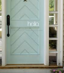 Hello Vinyl Door Decal You Choose Color Make It Stick