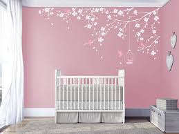 Branch Wall Decal Baby Nursery Decals Girls Room Decal Cherry Blossoms Tree Decal Nursery Room F Girls Room Decals Nursery Decals Girl Baby Nursery Wall Decals