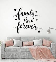 Vinyl Wall Decal Quote Words For Home Family Forever Stickers 2495ig Wallstickers4you