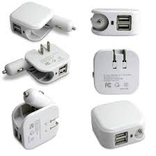 5v 2 1a dual usb wall power adapter
