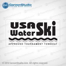 Usa Water Ski Approved Tournament Towboat Decal Correct Craft Nautique Garzonstudio Com