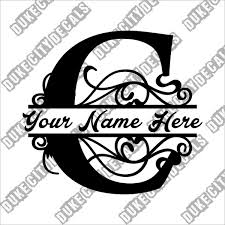 Duke City Decals On Twitter Letter C Floral Initial Monogram Family Name Vinyl Decal Sticker Personalized Floral Name Decal Https T Co Kbg1ir3m5q Initialdecal Https T Co Pv1jo4ekwb