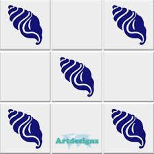 Seashell Tile Stickers Bathroom Sea Shell Nautical Vinyl Wall Car Decal 100x85mm Ebay