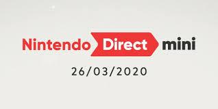 Nintendo Direct Mini 26th March 2020 ...