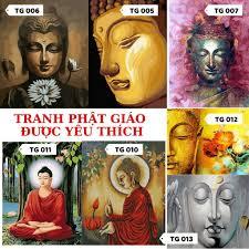 Tranh Tô Màu Sơn Dầu Theo Số Chủ Đề Phật Giáo
