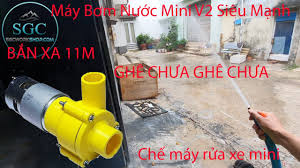Chế Máy Rửa Xe Siêu Mạnh Từ Máy Bơm Nước Mini V2 - Ráp Kiểu Tăng Áp Bắn Xa  11m - SGC Workshop - YouTube
