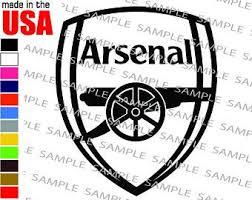 Arsenal Car Sticker Etsy