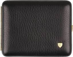 black genuine leather cigarette case