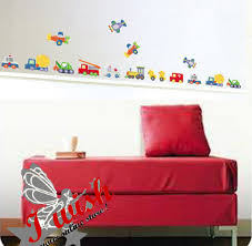 Cars Trucks Ducks Planes Train Etc Colour Boys Kids Room Wall Stickers In Merlin Galway From I Wish