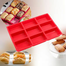 9cup silicone mini cake loaf pan food