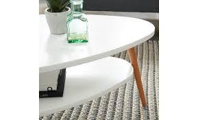 stone table basse ovale scandinave blanc laqué mat l 90 x l 60 cm -  Achat/Vente table basse pas cher - Couleur-et-design.fr