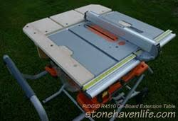 Ridgid R4510 On Board Extension Table Plans Stonehaven Life