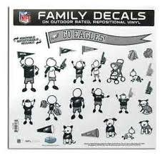 Nfl Philadelphia Eagles Family Decals 25 Pc Set 1 8 Size Vinyl Car Window New Ebay