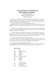 pdf morphological imilation of